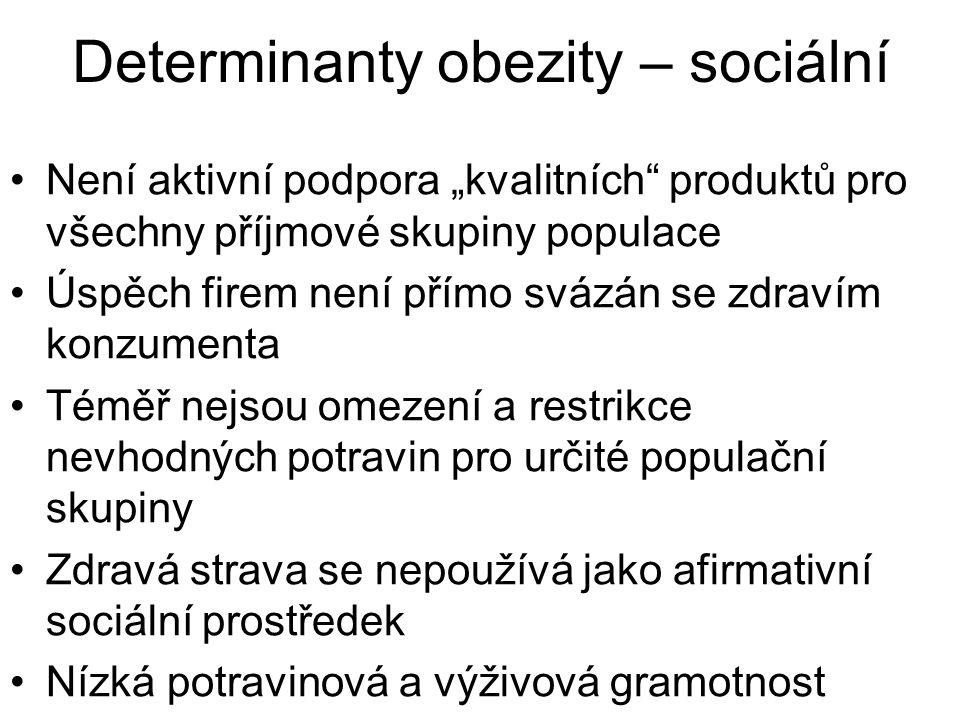 Determinanty obezity – sociální