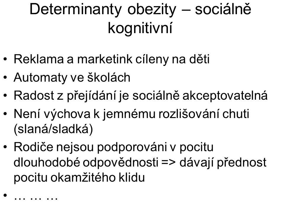 Determinanty obezity – sociálně kognitivní
