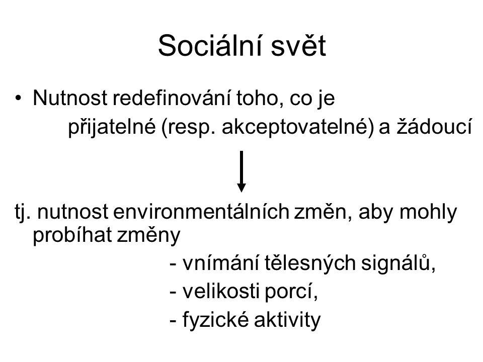 Sociální svět Nutnost redefinování toho, co je