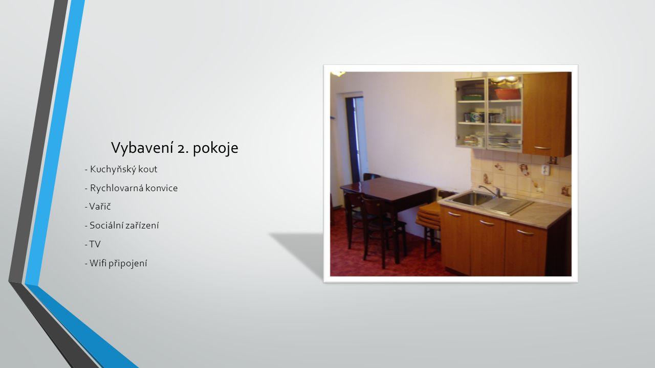 Vybavení 2. pokoje - Kuchyňský kout - Rychlovarná konvice - Vařič