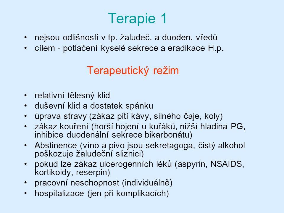 Terapie 1 Terapeutický režim