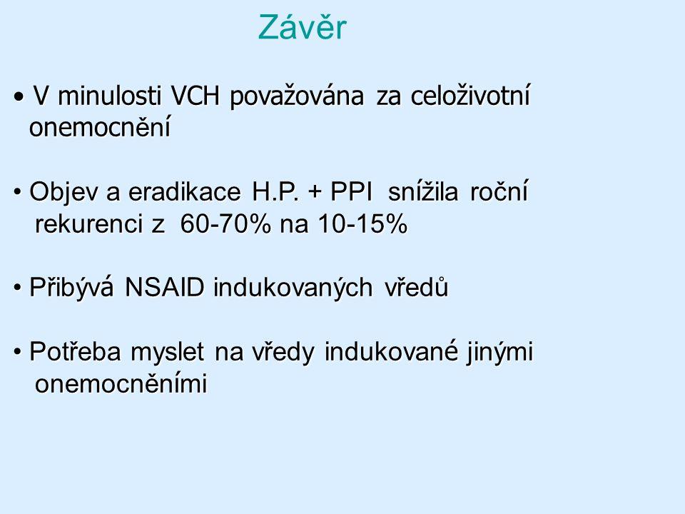 Závěr V minulosti VCH považována za celoživotní onemocnění