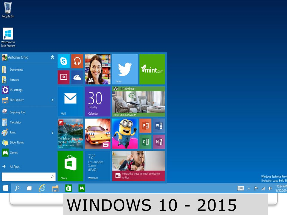 WINDOWS 10 - 2015