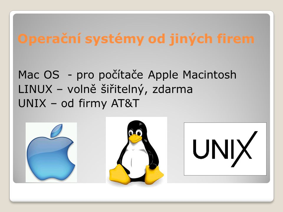 Operační systémy od jiných firem
