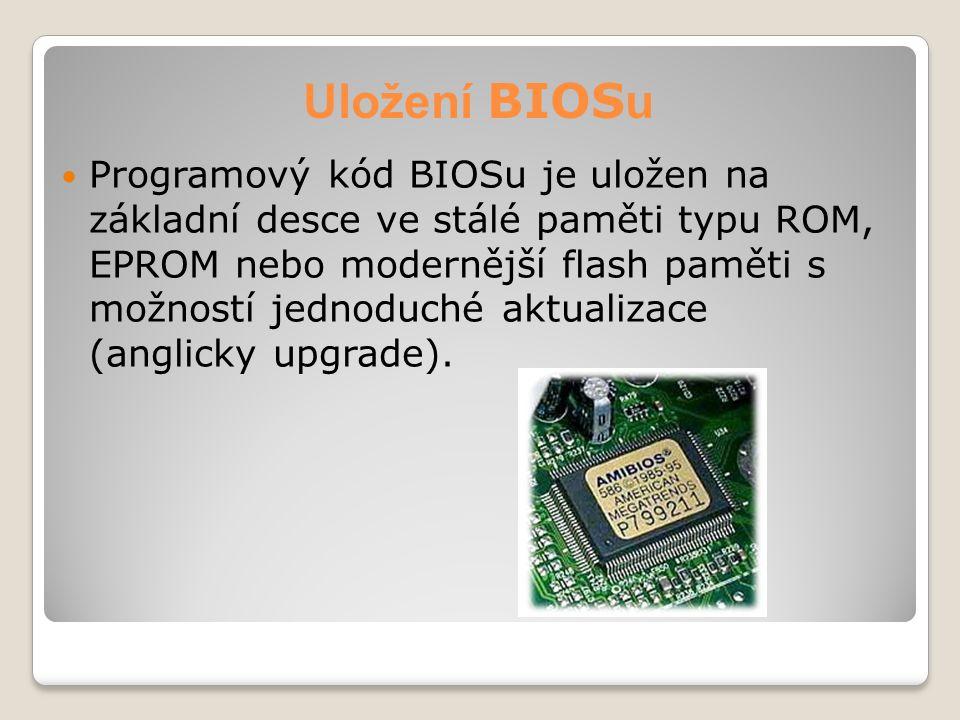 Uložení BIOSu