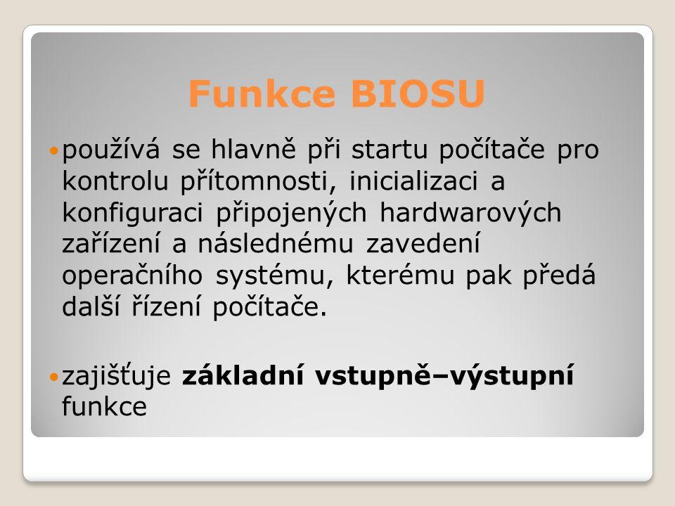 Funkce BIOSU