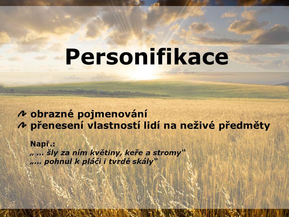 Personifikace obrazné pojmenování