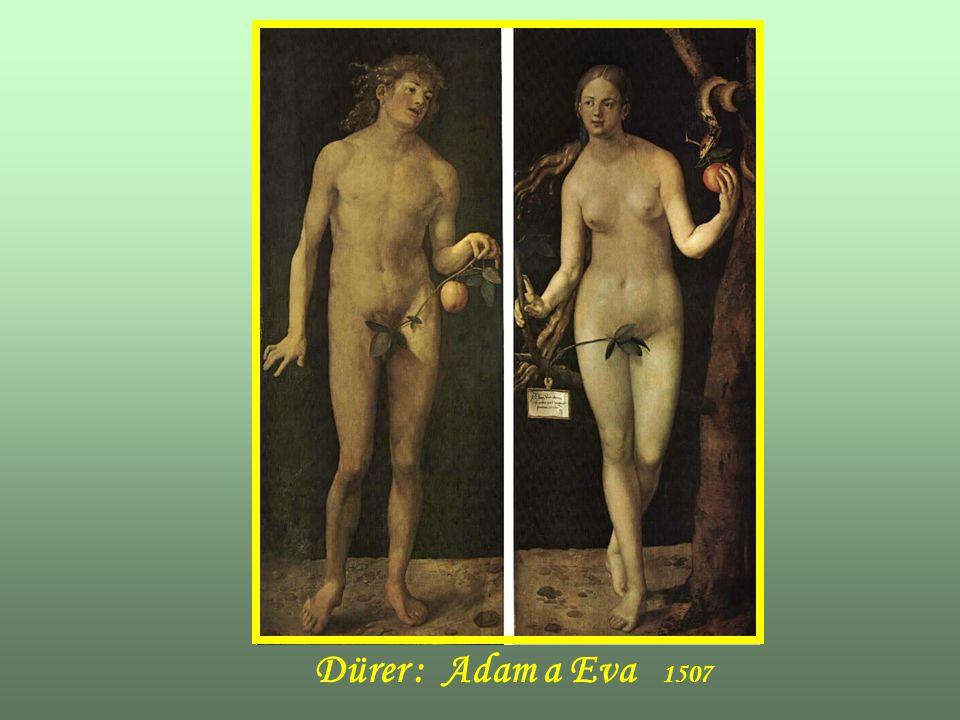 Dürer : Adam a Eva 1507