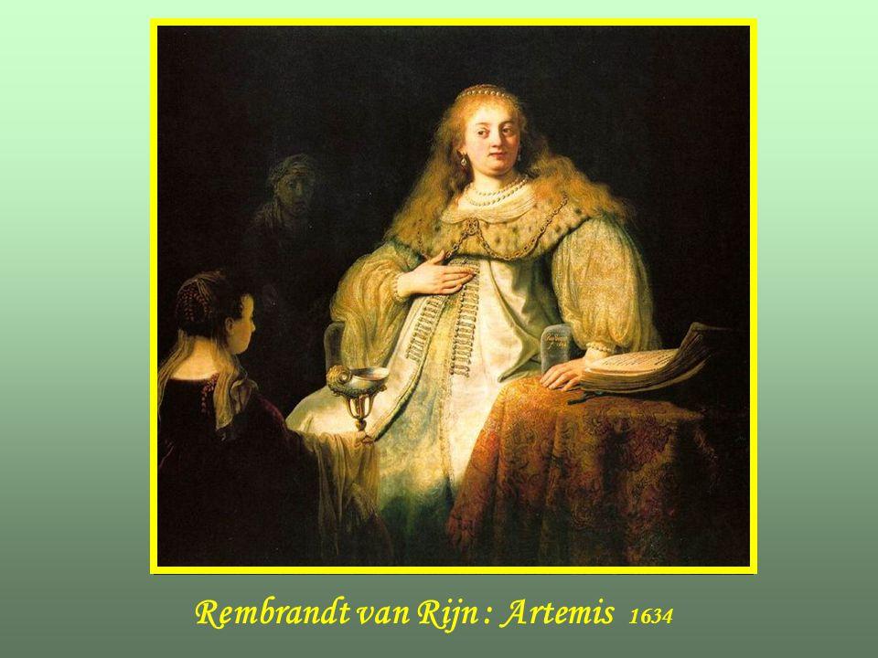 Rembrandt van Rijn : Artemis 1634