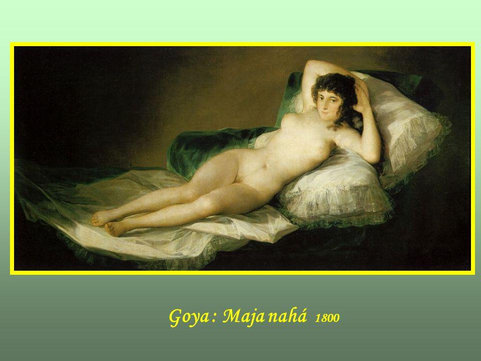 Goya : Maja nahá 1800