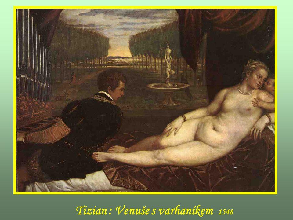 Tizian : Venuše s varhaníkem 1548