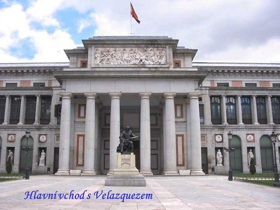 Hlavní vchod s Velazquezem