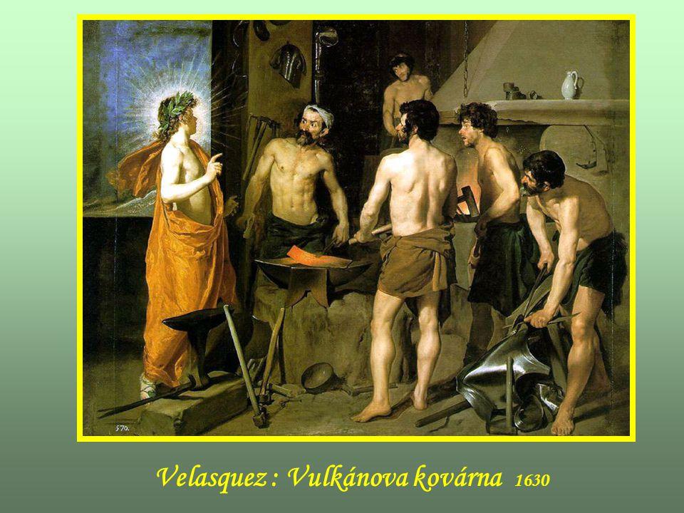 Velasquez : Vulkánova kovárna 1630