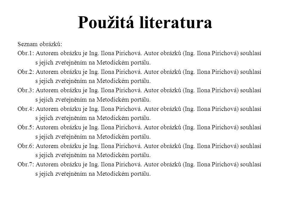 Použitá literatura Seznam obrázků: