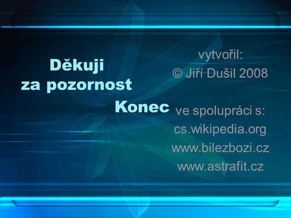 Děkuji za pozornost Konec vytvořil: © Jiří Dušil 2008 ve spolupráci s: