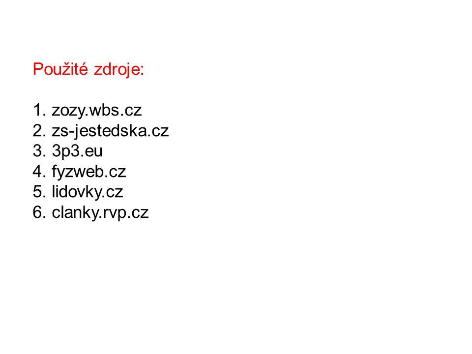 Použité zdroje: 1. zozy.wbs.cz. 2. zs-jestedska.cz.