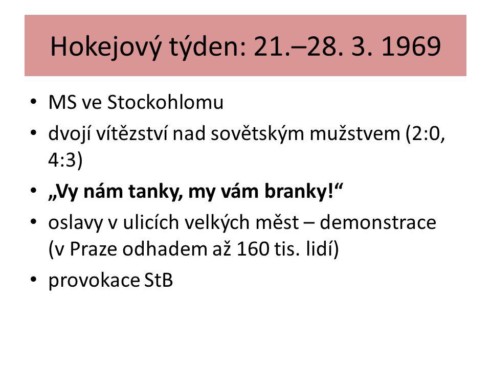 Hokejový týden: 21.–28. 3. 1969 MS ve Stockohlomu