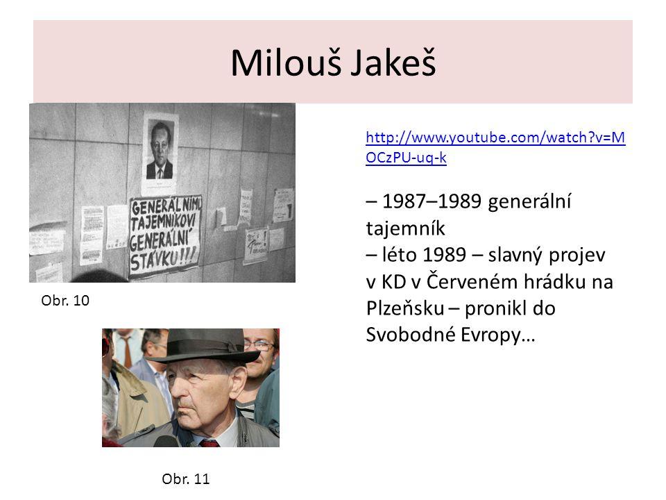 Milouš Jakeš – 1987–1989 generální tajemník