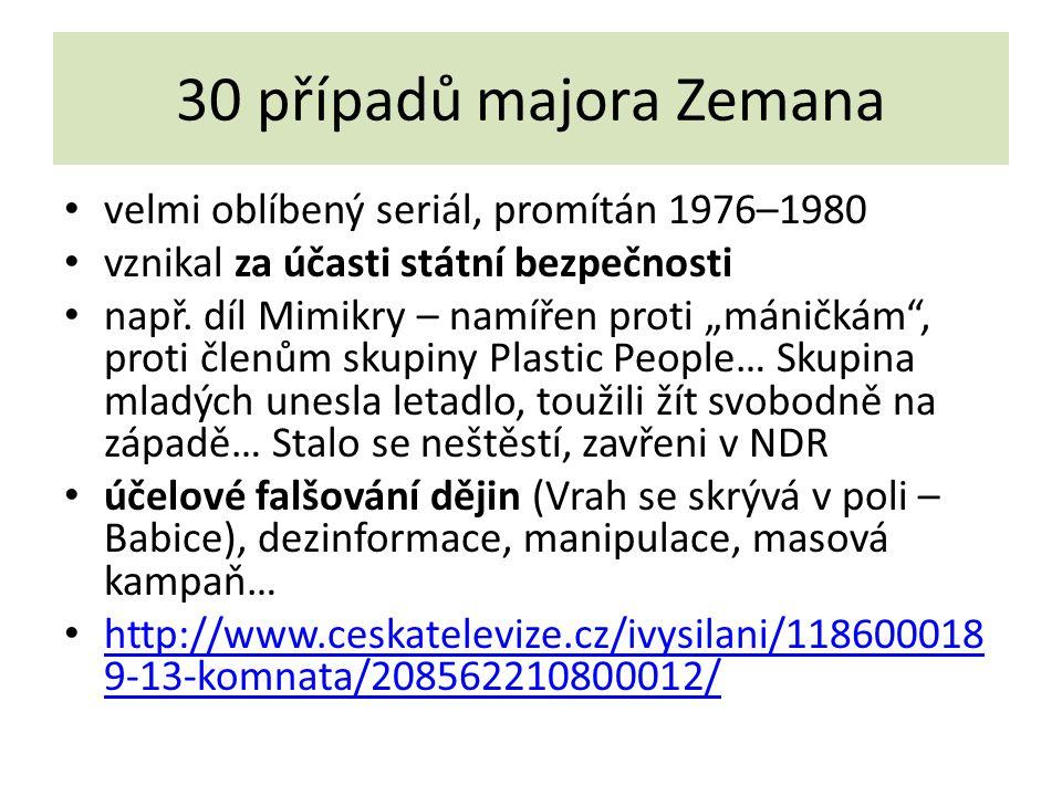 30 případů majora Zemana velmi oblíbený seriál, promítán 1976–1980