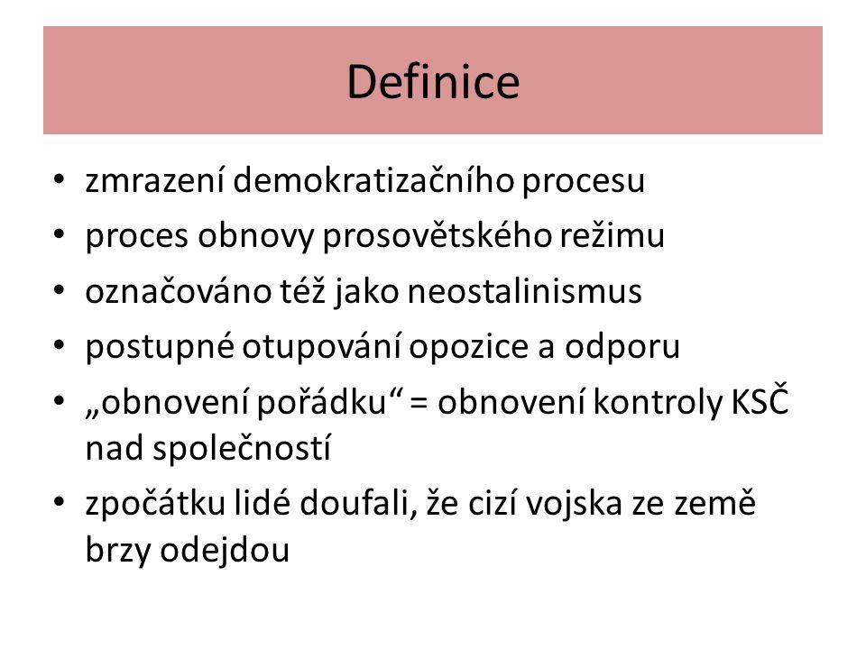 Definice zmrazení demokratizačního procesu