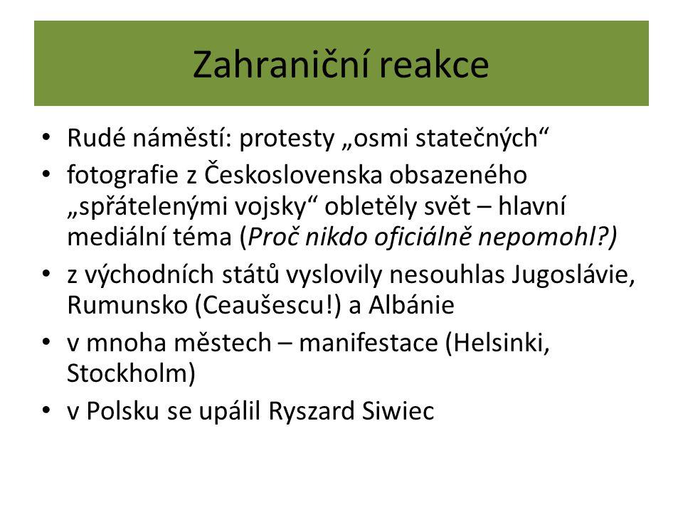 """Zahraniční reakce Rudé náměstí: protesty """"osmi statečných"""