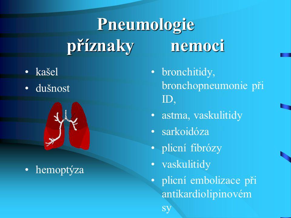 Pneumologie příznaky nemoci