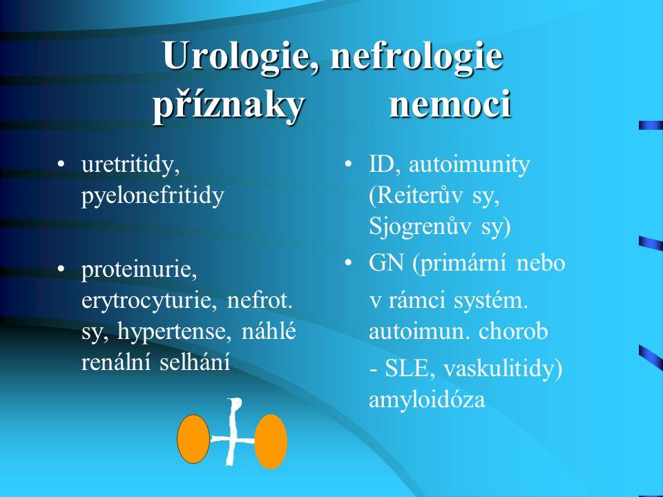 Urologie, nefrologie příznaky nemoci