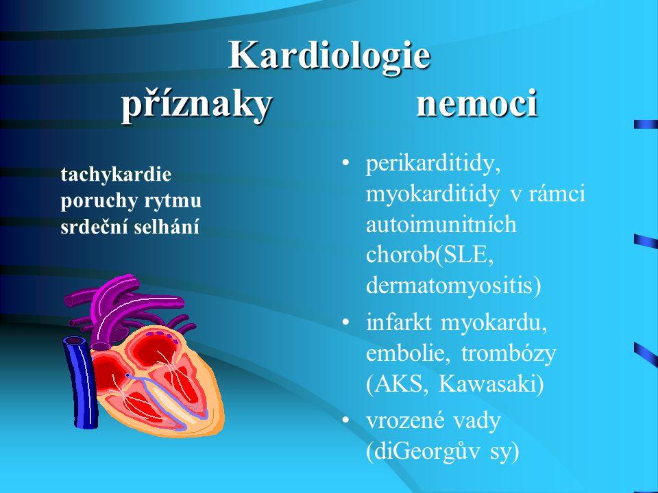 Kardiologie příznaky nemoci