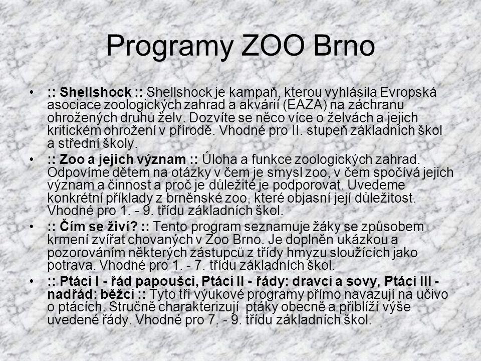 Programy ZOO Brno