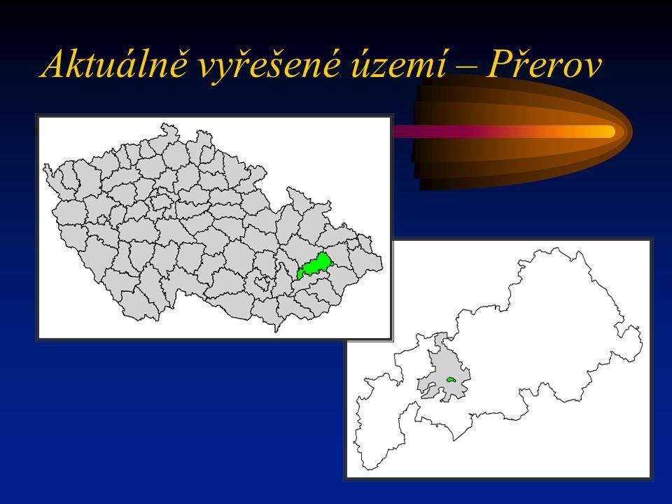 Aktuálně vyřešené území – Přerov