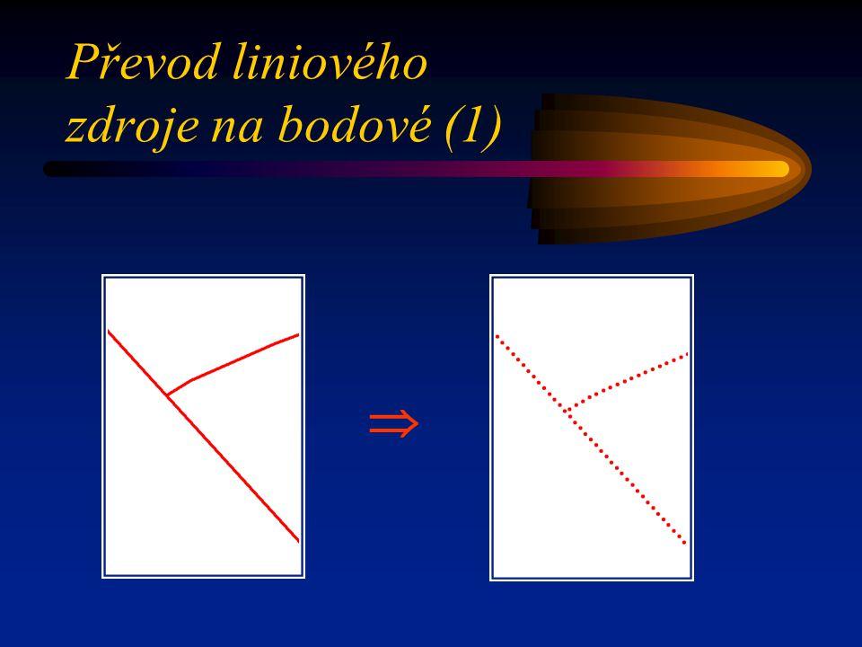 Převod liniového zdroje na bodové (1)