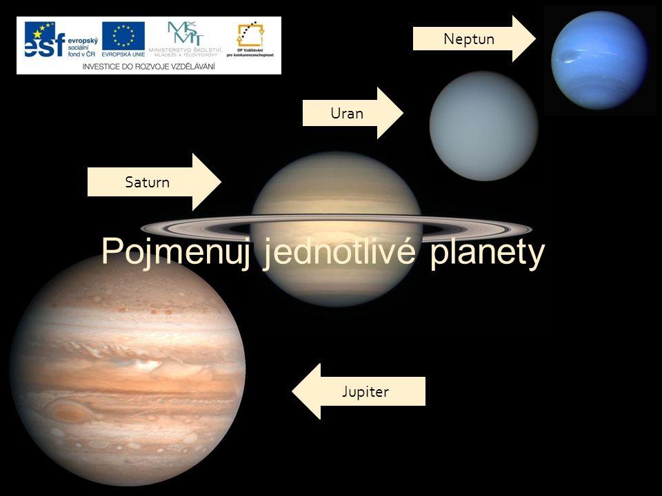 Pojmenuj jednotlivé planety