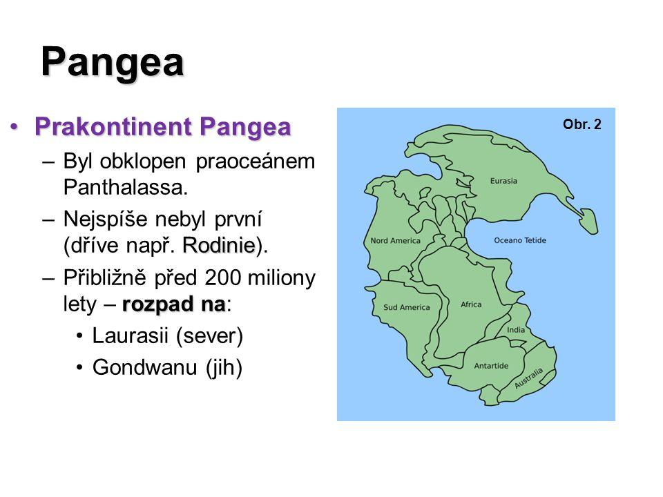 Pangea Prakontinent Pangea Byl obklopen praoceánem Panthalassa.