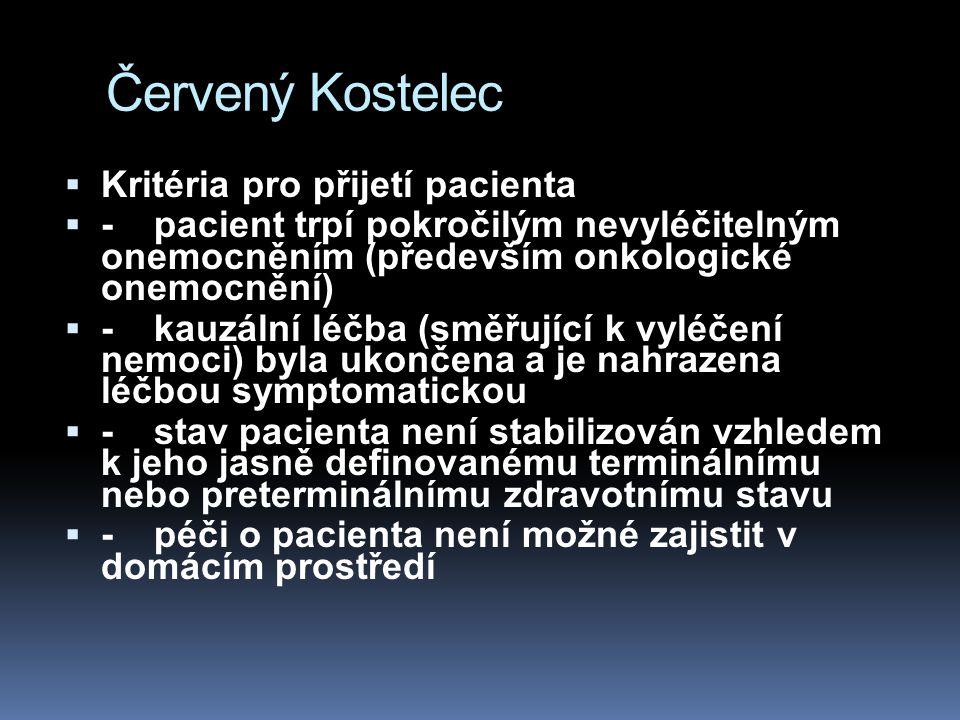 Červený Kostelec Kritéria pro přijetí pacienta