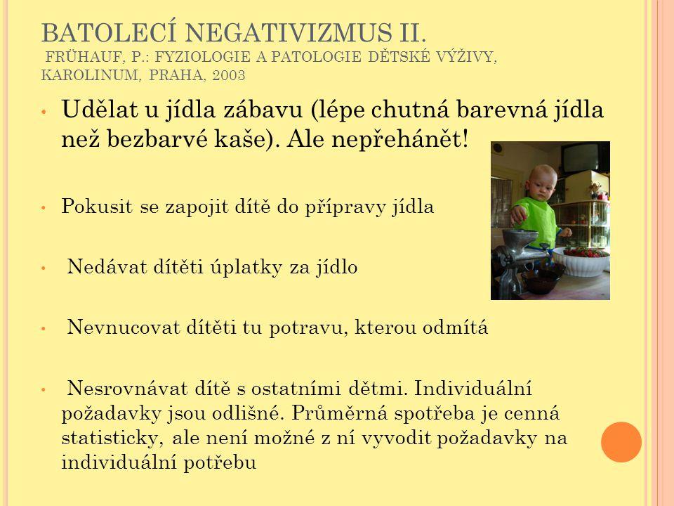 BATOLECÍ NEGATIVIZMUS II. FRÜHAUF, P