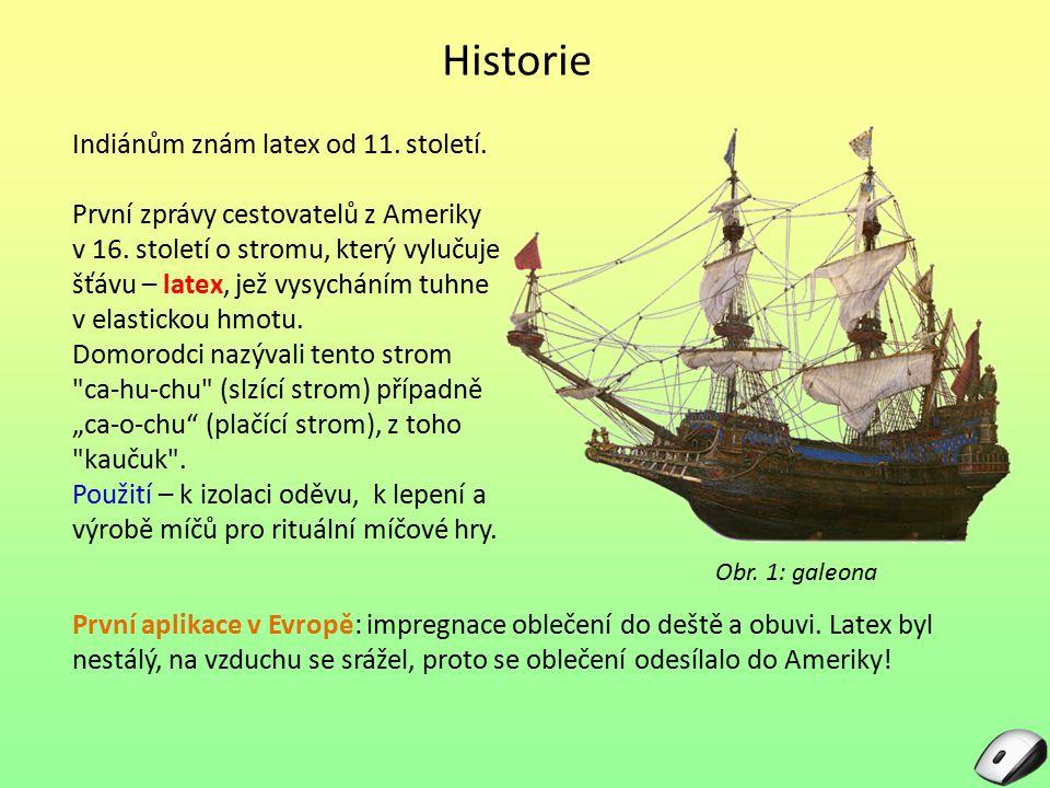 Historie Indiánům znám latex od 11. století.