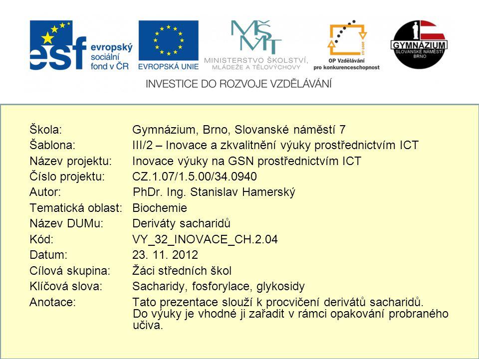 Škola: Gymnázium, Brno, Slovanské náměstí 7