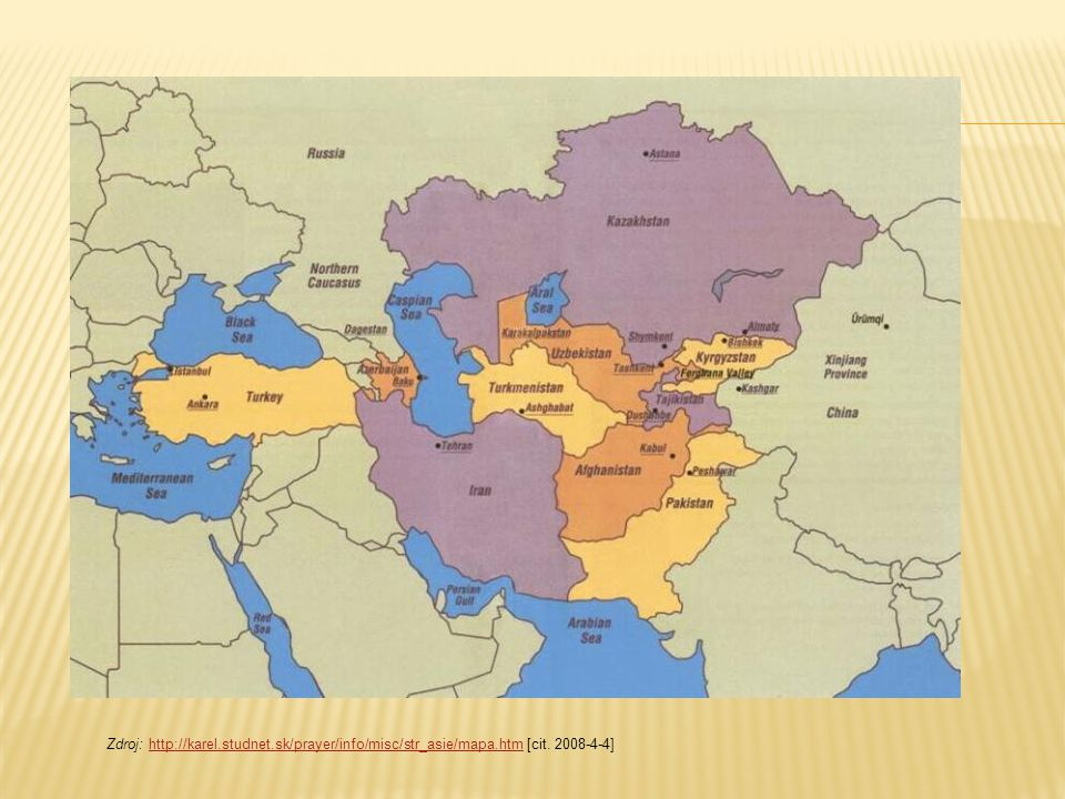 Zdroj: http://karel. studnet. sk/prayer/info/misc/str_asie/mapa