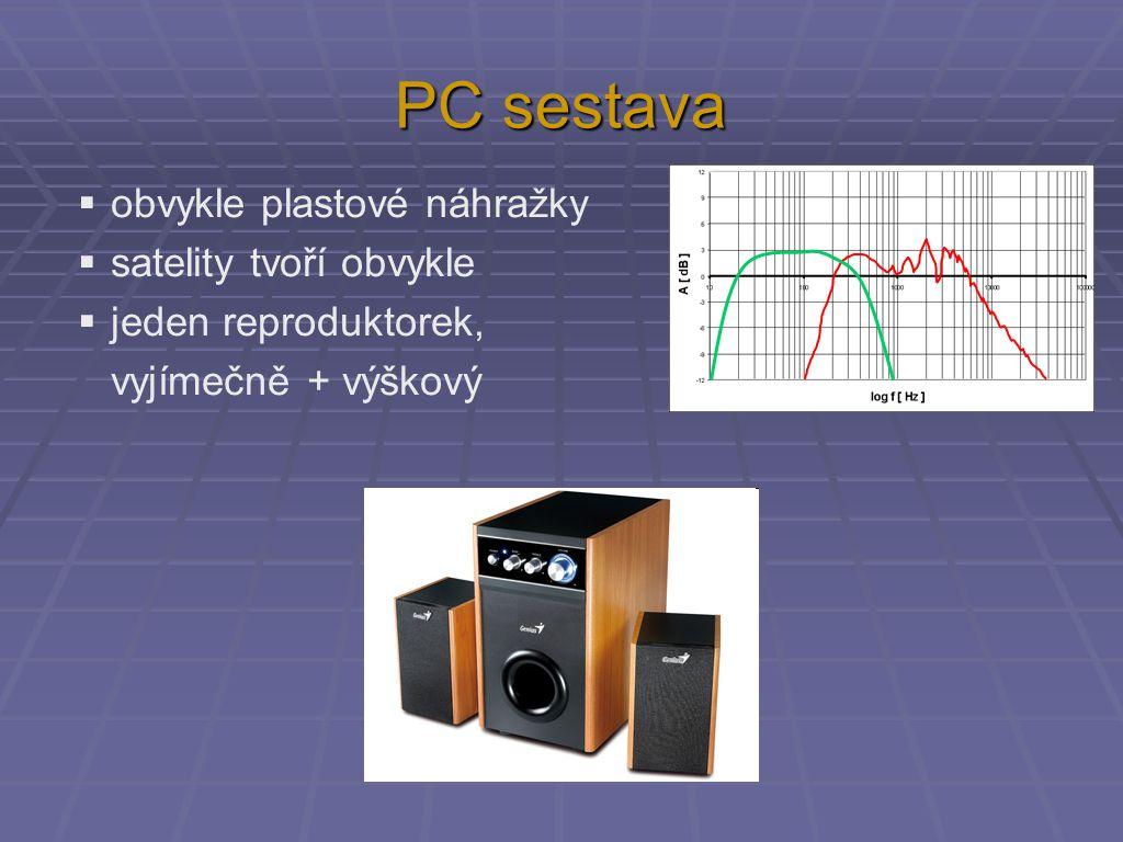 PC sestava obvykle plastové náhražky satelity tvoří obvykle