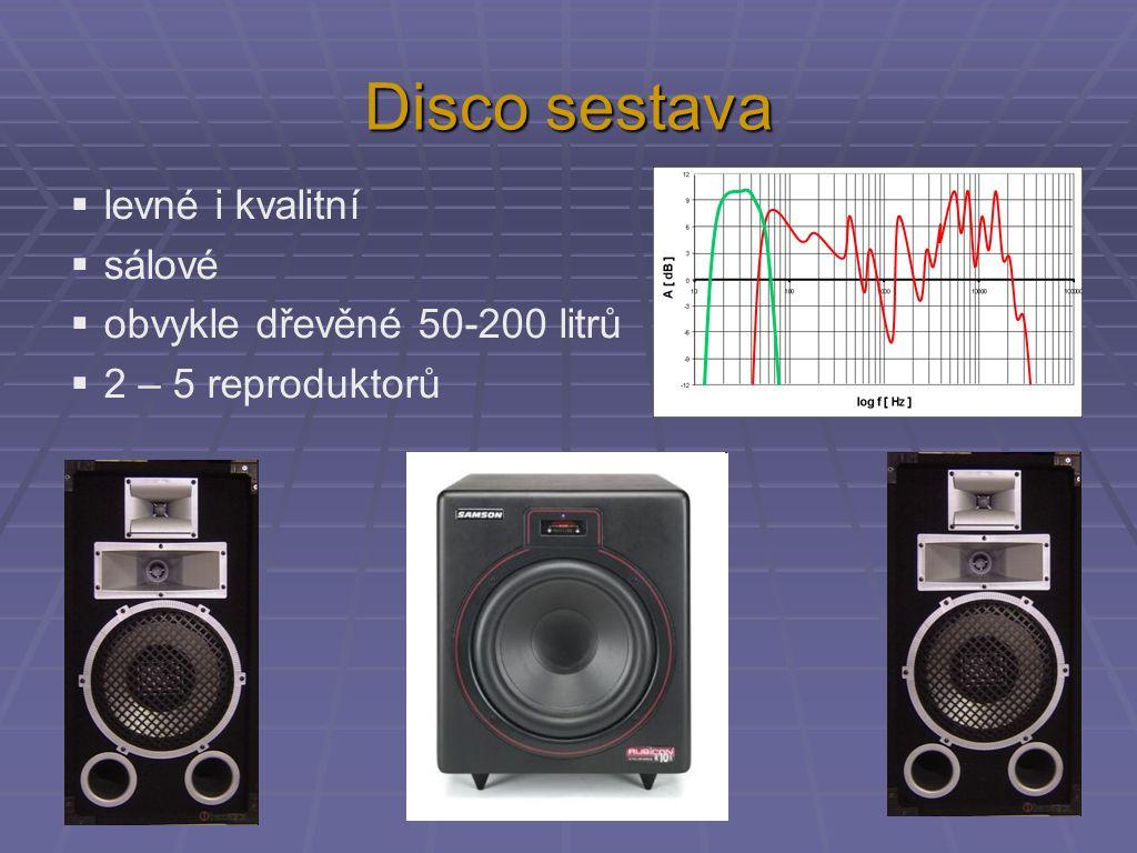 Disco sestava levné i kvalitní sálové obvykle dřevěné 50-200 litrů