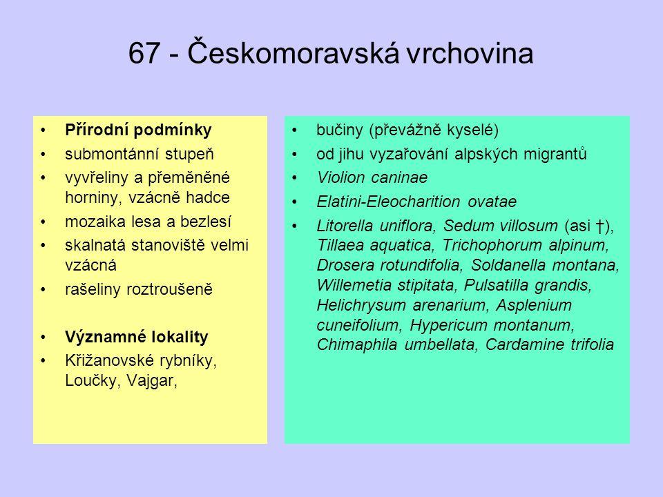 67 - Českomoravská vrchovina