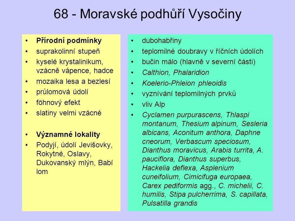 68 - Moravské podhůří Vysočiny