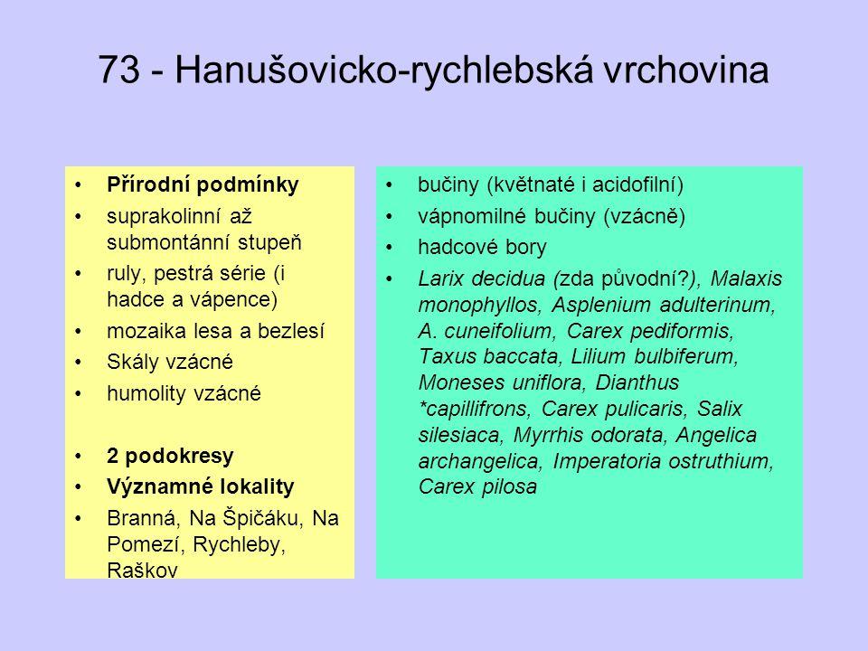 73 - Hanušovicko-rychlebská vrchovina