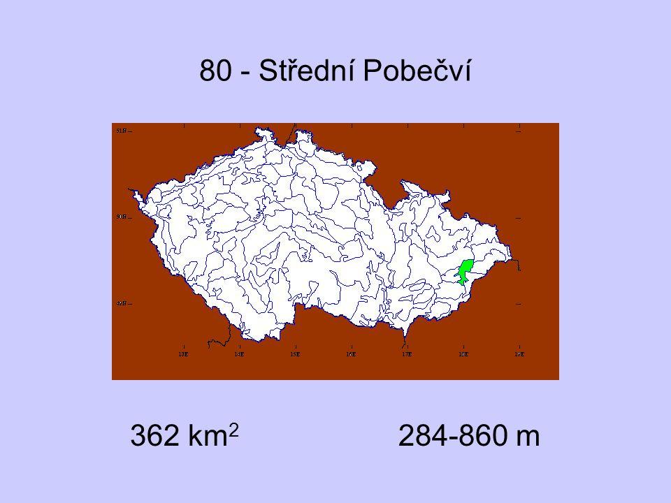 80 - Střední Pobečví 362 km2 284-860 m