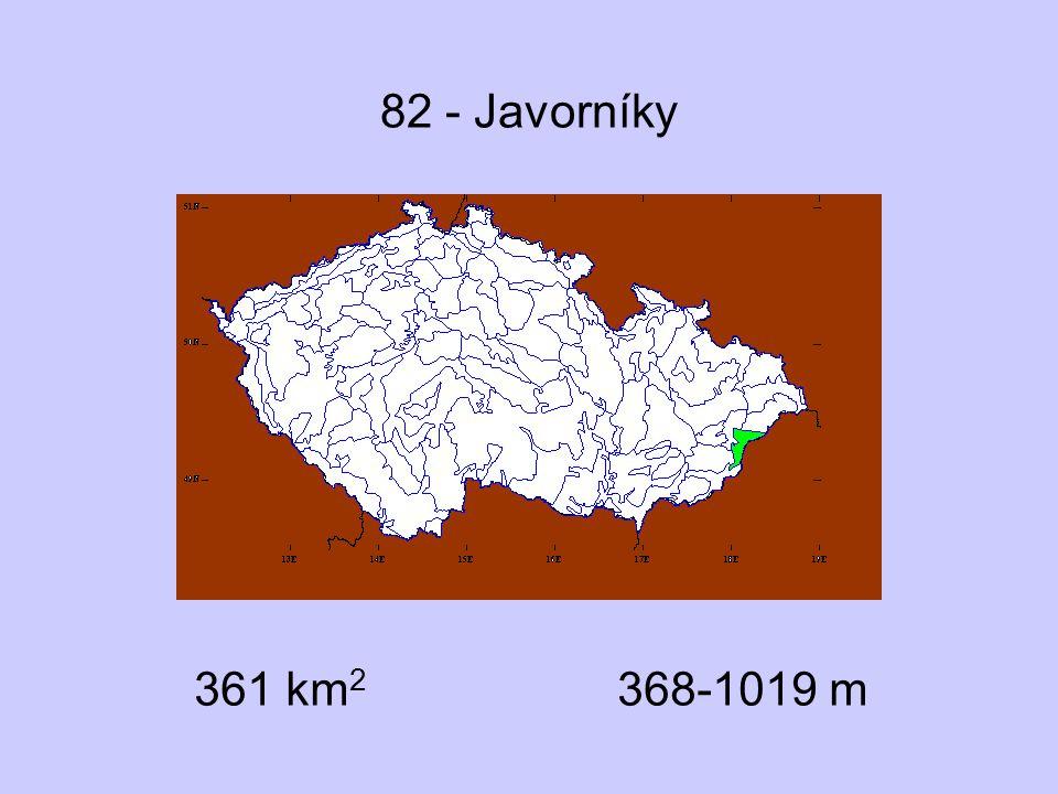 82 - Javorníky 361 km2 368-1019 m