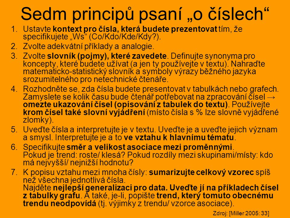 """Sedm principů psaní """"o číslech"""