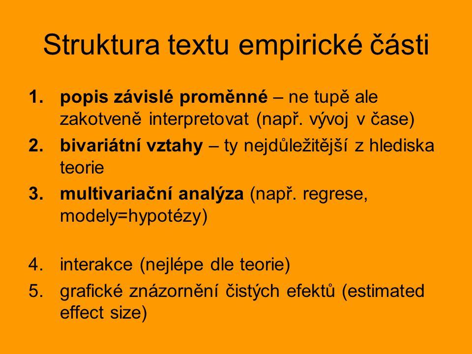 Struktura textu empirické části