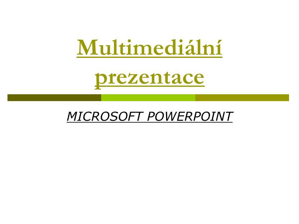 Multimediální prezentace