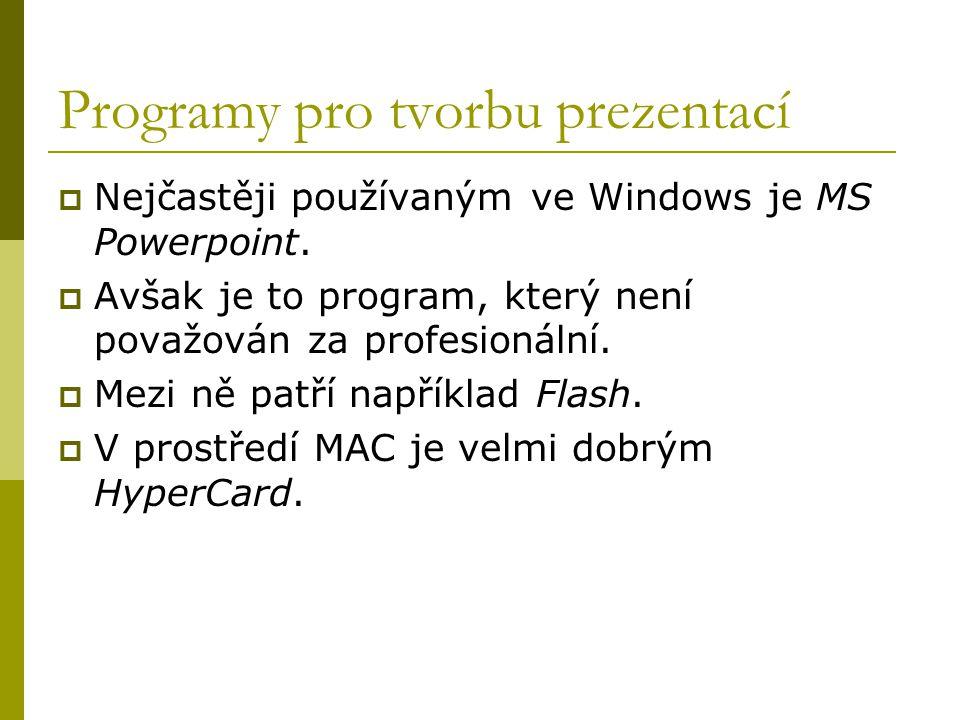 Programy pro tvorbu prezentací