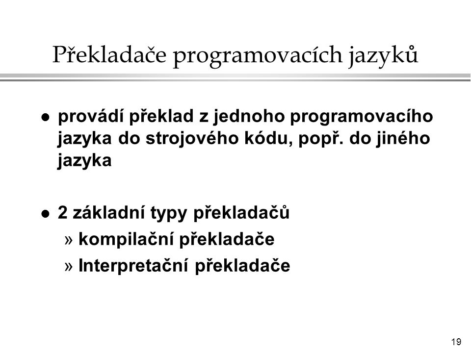 Překladače programovacích jazyků